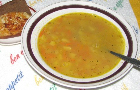 Гороховый суп с сыром рецепт