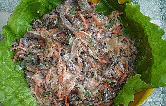Салат из говяжьей печени классический рецепт