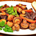 Как приготовить мясо с грибами — Рецепт