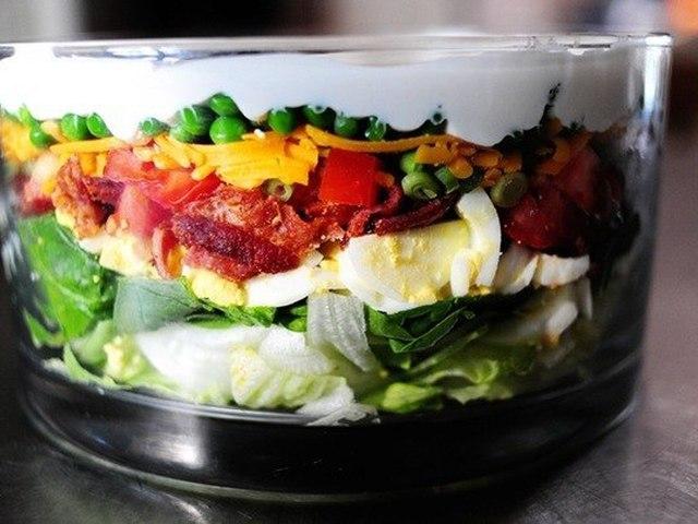 Слоёные салаты
