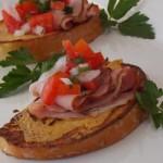 Французские тосты с ветчиной и сыром — Рецепт