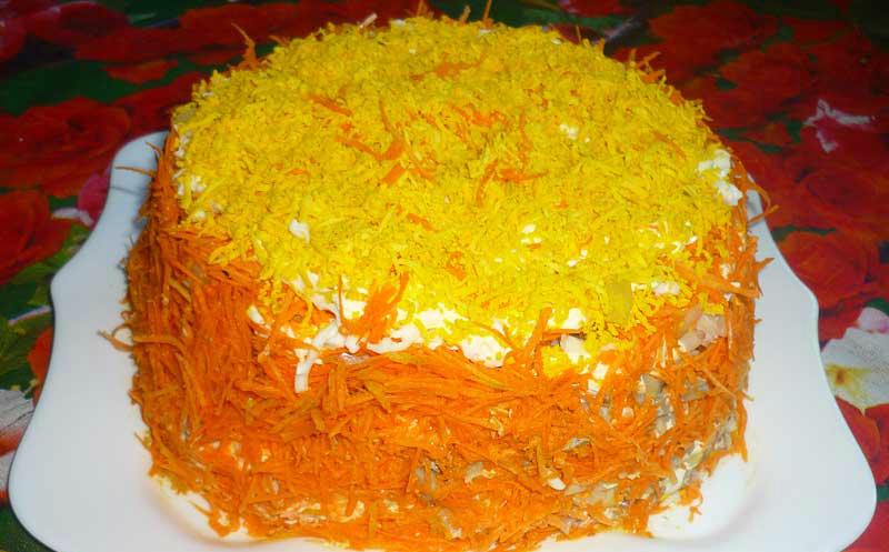 Праздничные салаты — рецепт