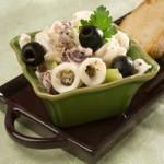 Салат из кальмаров с лимонной заправкой — Рецепт