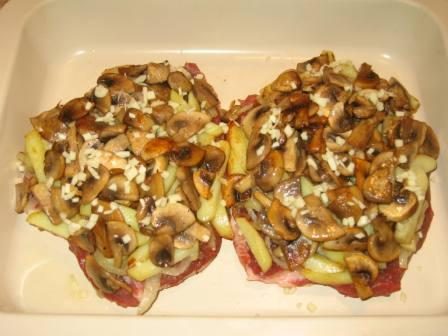 мясо по французски с: