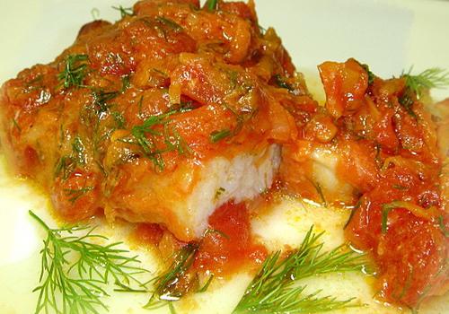 рыба по-гречески рецепт с фото