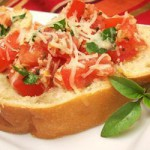 Брускетта с помидорами и сыром — Рецепт