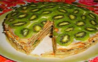 Торт черепаха с киви — Рецепт