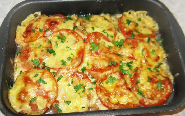 рецепт красной рыбы запеченной с овощами в духовке