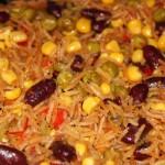Рис с кукурузой и фасолью — Рецепт
