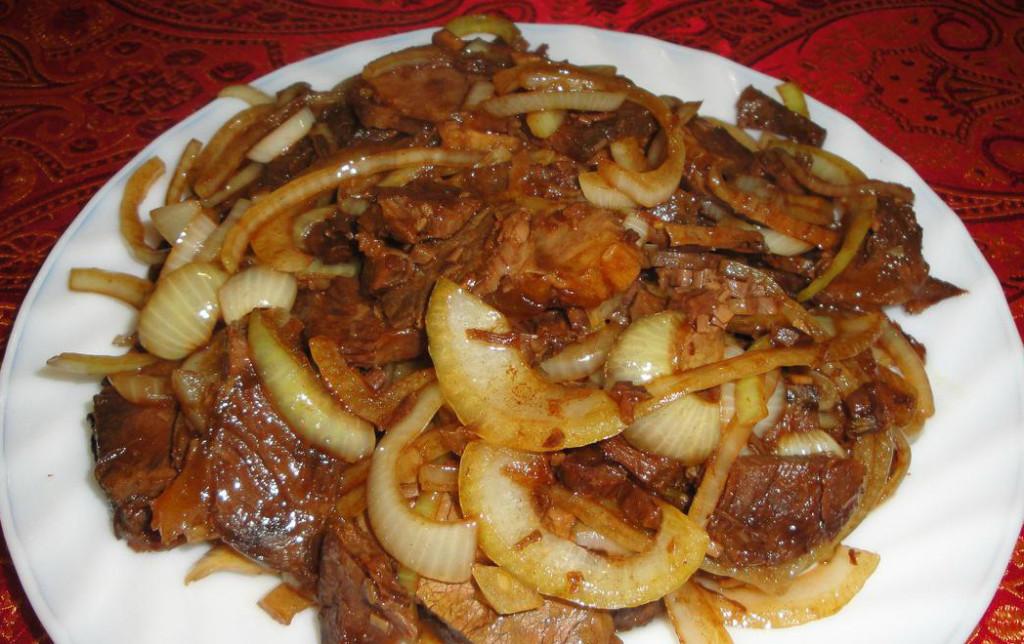 Рецепт мясо с луком