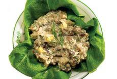 Простой салат с грибами