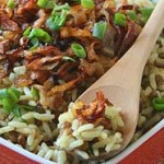 Рис с чечевицей и жареным луком — Рецепт