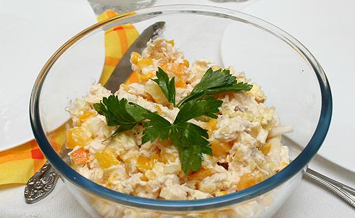 Гавайский капустный салат