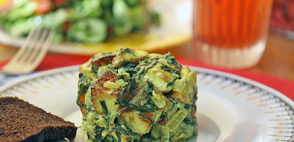 Сыр со шпинатом рецепт