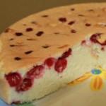 Бисквитный пирог — Рецепт