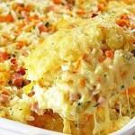 Запеканка из макарон с ветчиной и сыром — Рецепт