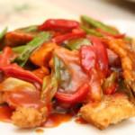 Рыба с помидорами и сладким перцем — Рецепт