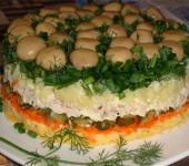 Как приготовить салат лесная поляна Рецепт