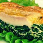 Рыба запеченная со шпинатом — Рецепт