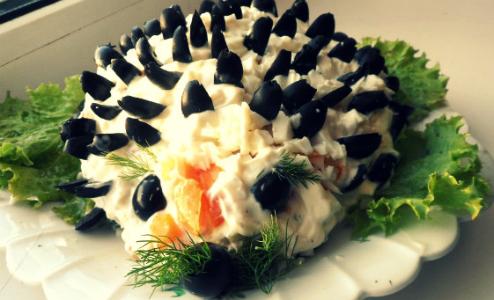 Салат ежик