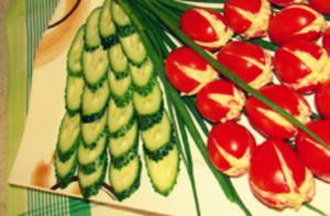 """Салат """"Весенние тюльпаны"""""""