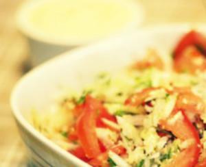 Куриный салат с сыром Фета
