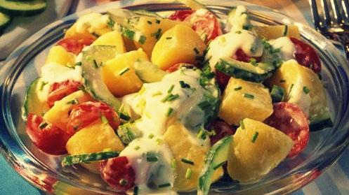 Летний картофельный салат