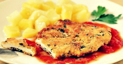 Куриные отбивные с сыром Пармезан