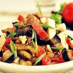Салат с баклажанами и сыром — Рецепт