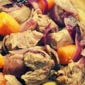 Тушеная говядина с овощами в соевом соусе