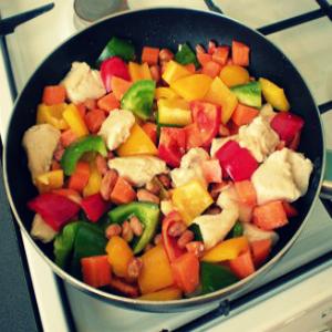 Курица по-китайски с овощами