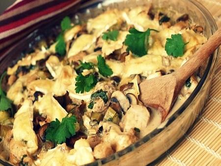 Курица с баклажанами в соевым соусом