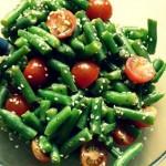 Теплый салат из стручковой фасоли — Рецепт