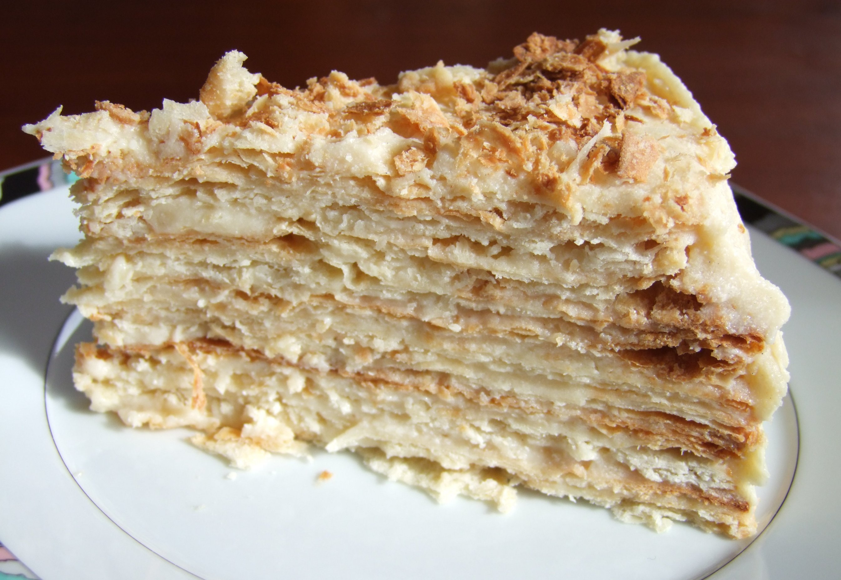 Торт из готового слоеного теста