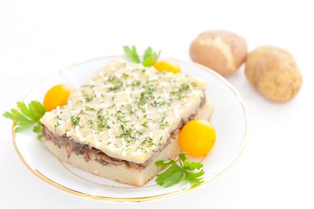 Картофельная запеканка с постным (соевым) майонезом