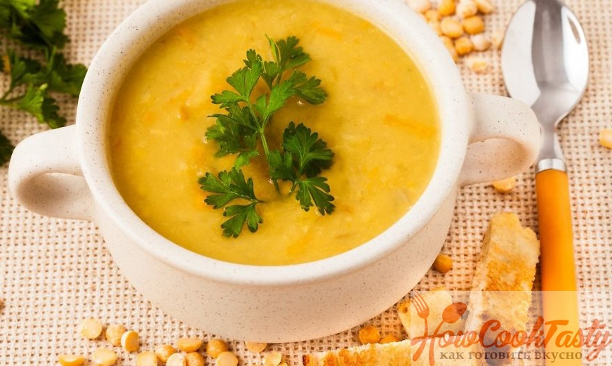 Приготовление постного горохового супа-пюре