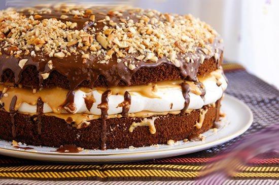 Рецепт торта Сникерс в домашних условиях с фото