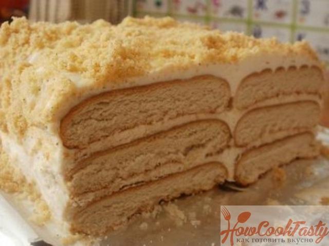 Торты из печенья без выпечки с фото
