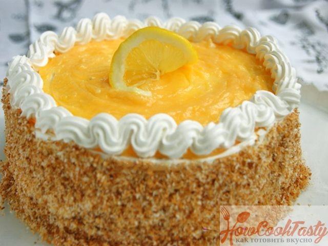 Торт лимонно-кокосовый
