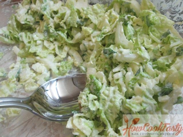 Салат с капустой и яйцом
