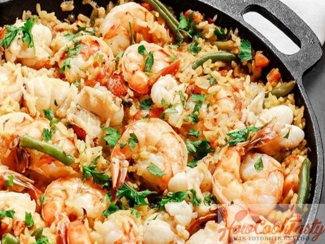 Паэлья с морепродуктами классическая пошаговый рецепт 2