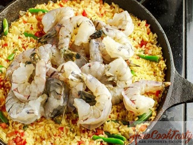 Классическая паэлья с морепродуктами рецепт с фото 2
