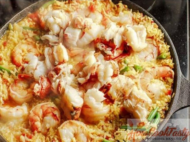 Паэлья с морепродуктами классическая испанская рецепт 2