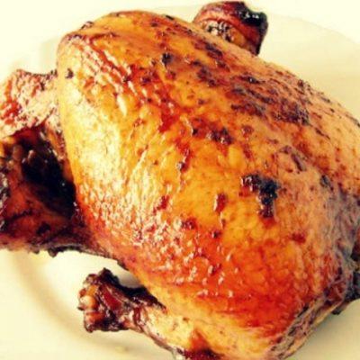 Курица запеченная в медово - томатном