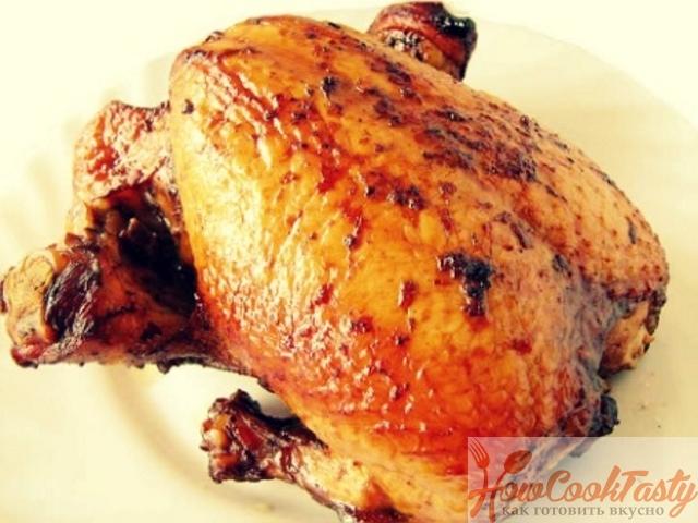 Курица, запеченная в духовке, в медово-томатном маринаде