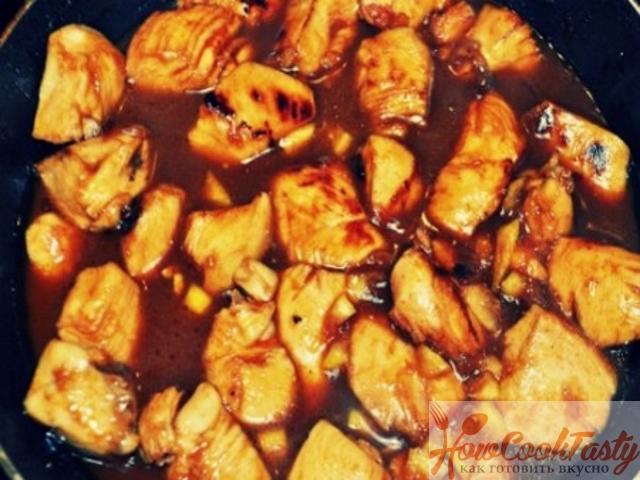 Курица с приправами в соевом соусе