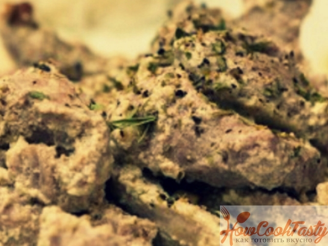 Мясо в сливочно-чесночном соусе