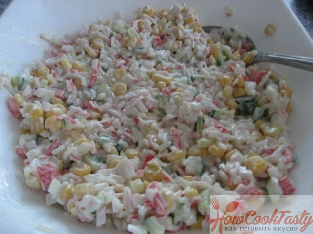 Крабовый салат – классический рецепт