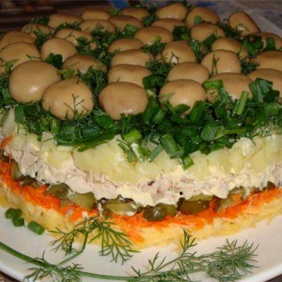 Как приготовить салат лесная поляна