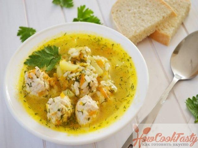 Суп с фрикадельками из куриного фарша